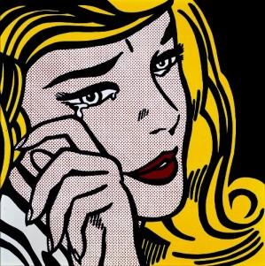 """Roy Lichtenstein's """"Crying Girl"""""""