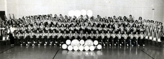 The 1981 Marching Jays, well before my time. But my sister is probably in this picture. Look at the size of that band! In Waseca, students WANTED to be in band; it was not a nerdy thing at all. Mr. Dufault was instrumental in creating that atmosphere.