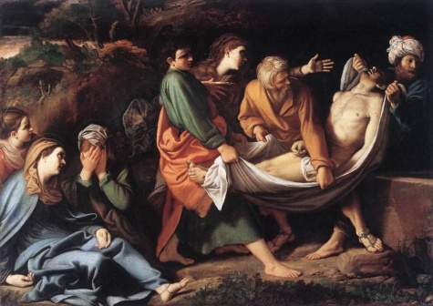 Sisto Badalocchio, The Entombment of Christ, c. 1610. Look at the emotion and movement in this painting.