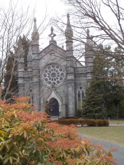 Another view of the Bigelow Chapel. I was happy to see some color in that shrub.