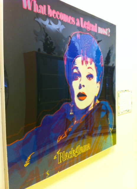 An Andy Warhol serigraph at the Judy Garland Museum in Grand Rapids, Minn. It was neat to see his signature in the bottom left corner--this print is No. 2 out of 10.