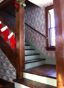 According to the museum, Judy and her two sisters would practice their performances on this staircase landing.