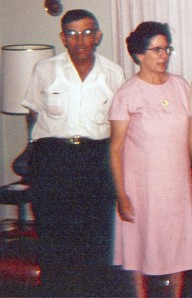 Grandpa and Grandma Zimny, c. 1969. This is a rare photo of both of them together. Grandma died in 1978, Grandpa in 1992.