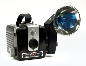 The Kodak Brownie Hawkeye Flash.