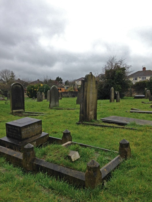 This small cemetery is near Royal Victoria Park, not far from the Royal Crescent.