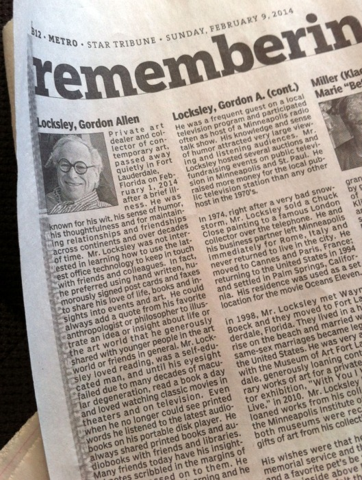 This obituary from the Feb. 9, 2014, edition of the Minneapolis StarTribune caught my eye.