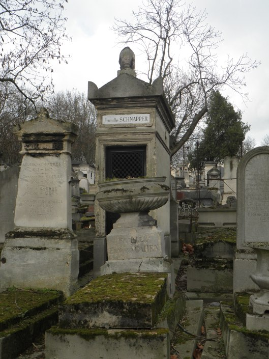 Père Lachaise is more than 200 years old. I love the look of some of these old markers.