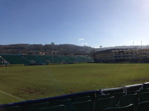 Just for context, the rugby stadium in Bath.