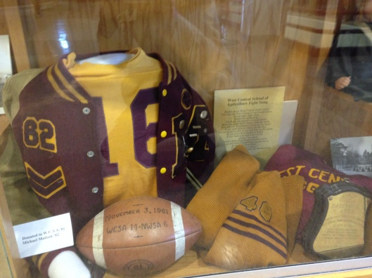 I loved this display, since my dad graduated from SSA in 1962. His letter jacket looked a lot like this one.