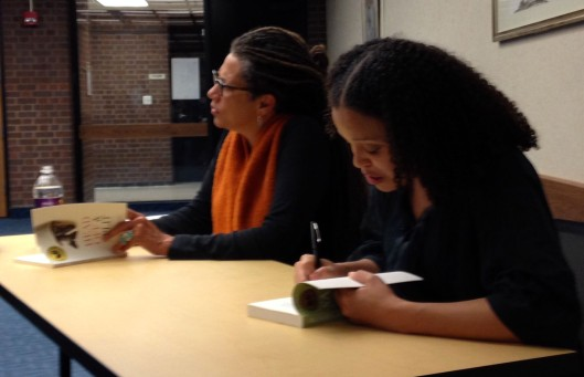 National Book Award winners Nikki Finney (left) and Jesmyn Ward visited Mankato on April 10 as part of the Good Thunder Reading Series.