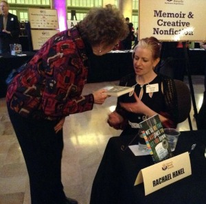 How fun to sit at the finalists' table and sign books!