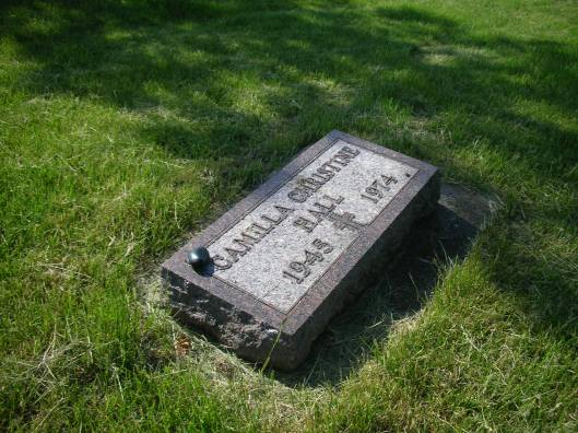 Camilla Hall, originally of St. Peter, Minn., died in the SLA shoot-out with police 40 years ago today. RIP, Camilla.  She's buried in Resurrection Cemetery in St. Peter.