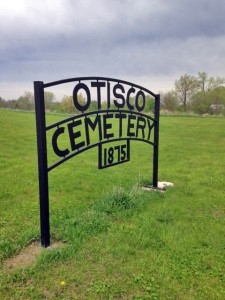 Otisco Cemetery is located in the rolling hills of the Le Sueur River valley south of Waseca, Minnesota.