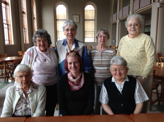 Some of the sisters from Waseca. Front row (left to right): Sr. Marice Hughes, me, Sr. Mary Frederick. Back row (left to right): Sr. Ilia Miller, Sr. Helen Haag, Sr. Marita Johnson, Sr. Chabenel Hayunga.