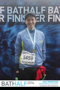 The Bath Half in March 2014 was my first international run. It was a difficult run, but I finished and it gave me a huge sense of accomplishment. It's hard to find that instant gratification in writing.