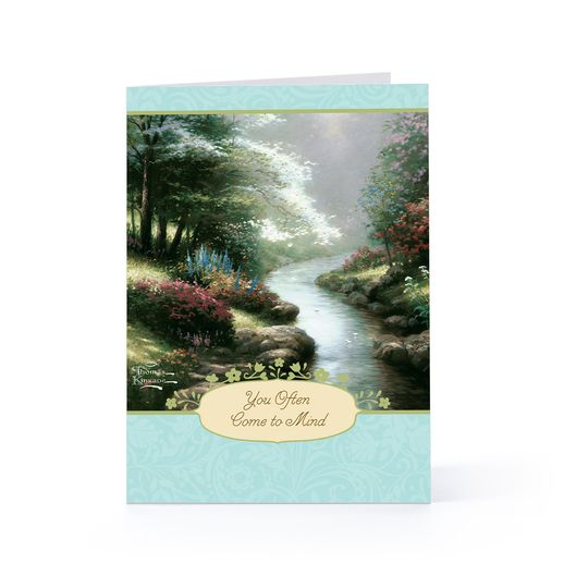 A Thomas Kinkade sympathy card available at Hallmark.