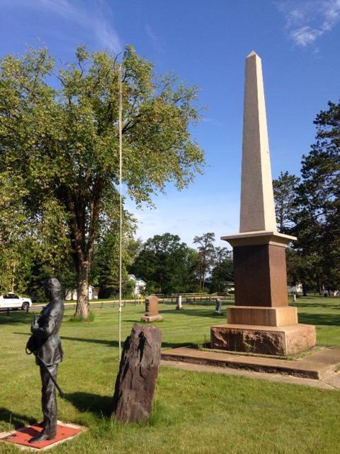 The Civil War memorial.