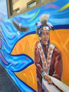 Part of the mural in the corridor.