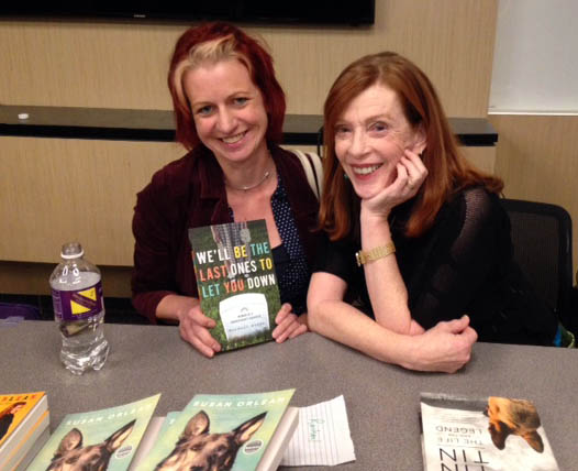 Me and Susan Orlean, 2014.