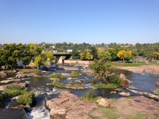 Near the falls for which Sioux Falls is named. Each day was warm and bright.