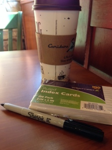 I had Thursday afternoon free, so of course I found the nearest Caribou and proceeded to write.