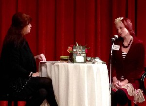 Host Heather McElhatton and me. I so enjoyed the conversation. Photo by Pamela Klinger-Horn.
