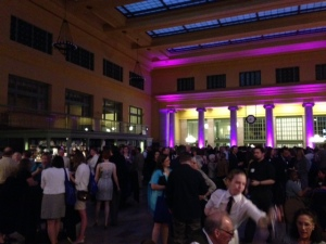 The gathering at St. Paul Union Depot.