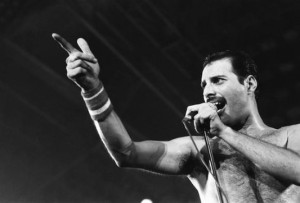 Freddie Mercury. I came late to Queen's music.
