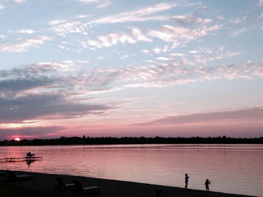 Sunset over Lake Bemidji. Photo by author.