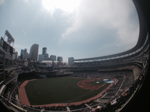 A fish-eye view of Target Field on Saturday, June 6. Photo by author.