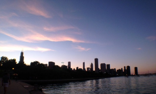Chicago skyline at dusk. Photo by author.