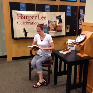Me reading at the Mankato Barnes & Noble on July 13.