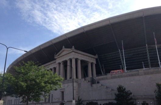 This football fan always likes seeing Soldier Field! Photo by author.