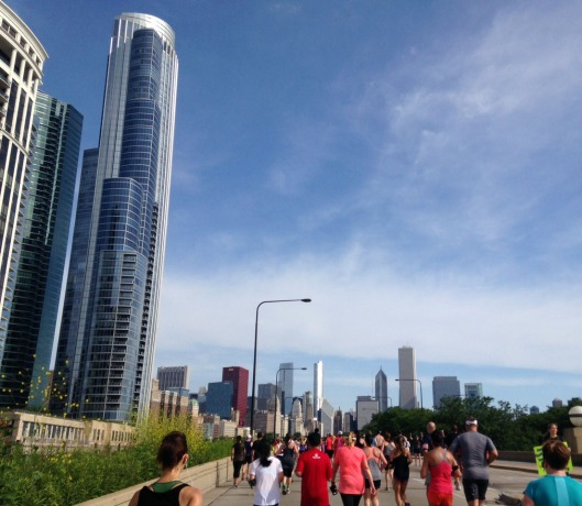 Runners on the last stretch toward downtown. Photo by author.