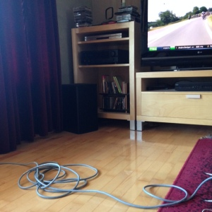 I need an extension cord  to work on my computer in front of the TV during the Tour :)