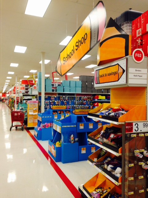A Target display on a recent weeknight. Not too much action yet!