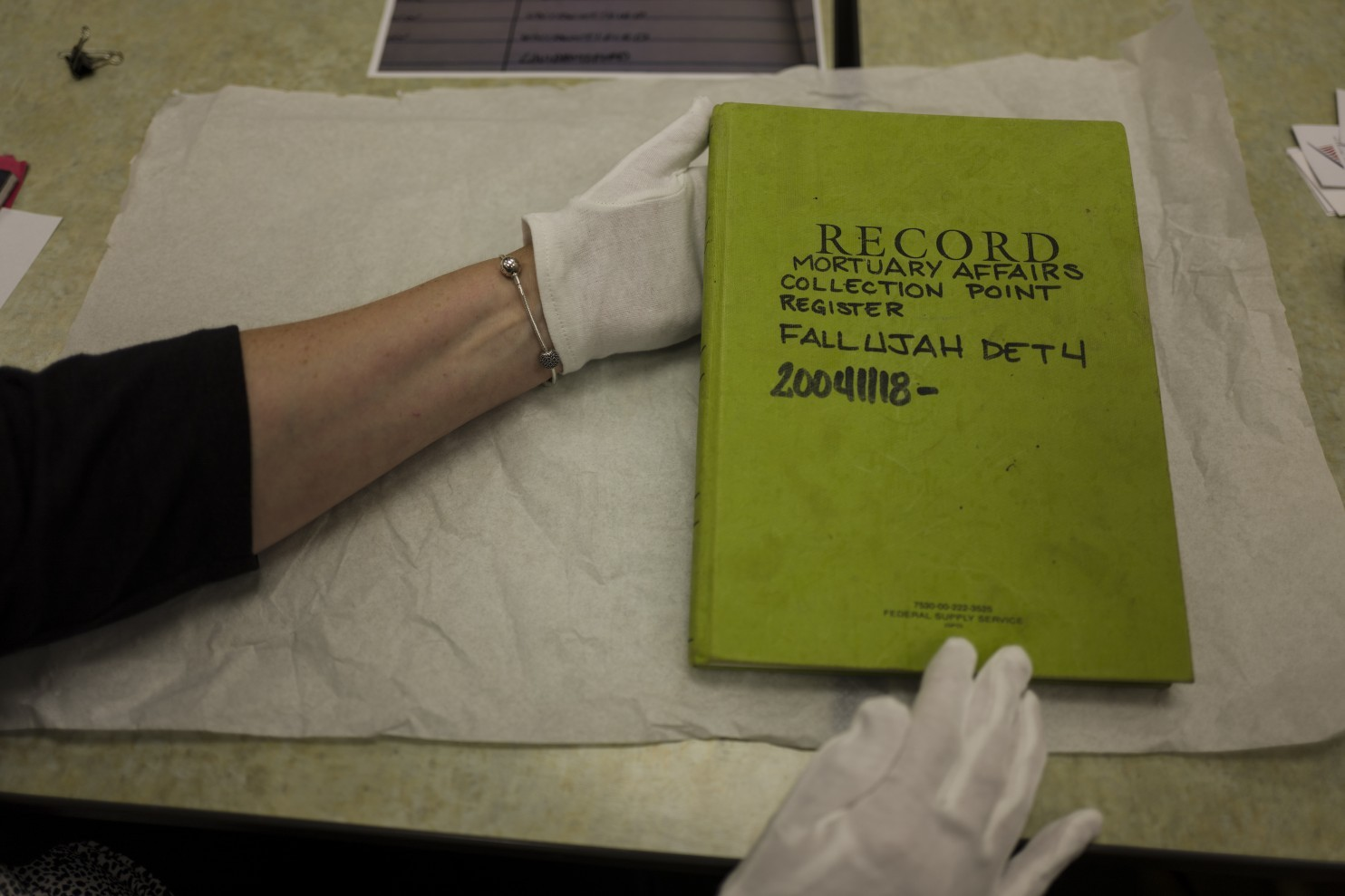 fallujah mortuary log book to be on display in marine museum if