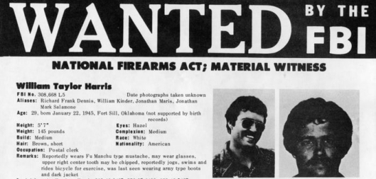 Bill Harris wanted poster